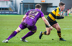 Newport's Matt O'Brien evades the tackle of Ebbw Vale's Kristian Parker - Mandatory by-line: Craig Thomas/Replay images - 04/02/2018 - RUGBY - Rodney Parade - Newport, Wales - Newport v Ebbw Vale - Principality Premiership