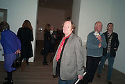 RICHARD WILSON, Richard Hamilton opening, Tate Modern. London. 11 February 2014
