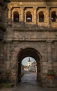 Exterior of Porta Nigra in Trier, Germany