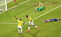 Fifa Soccer World Cup - Brazil 2014 - <br /> JAPAN (JPN) Vs. COLOMBIA (COL) - Group C - Arena Pantanal Cuiaba - Brazil (BRA) - June 24, 2014 <br /> Here Colombia player Jackson Martinez goal (R). Colombia player Pablo Armero (L)<br /> © PikoPress