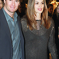 1.24.01  Randy Gerber escorts his wife Cindy Crawford to Whiskey Park at the Park Plaza in Boston,MA Photo by Mark Garfinkel