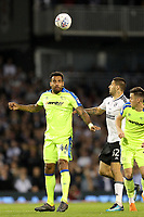 LONDON, ENGLAND - MAY 14:LONDON, ENGLAND - MAY 14:Derby's Tom Huddlestone, gets up to win a header