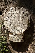 Muslim grave headstone inscription Archaeological museum, Rhodes, Greece