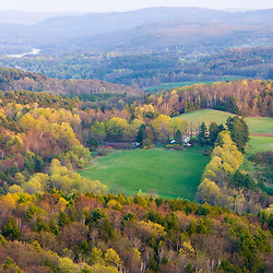 The view south from Black Mountain in DummerstonVermont.