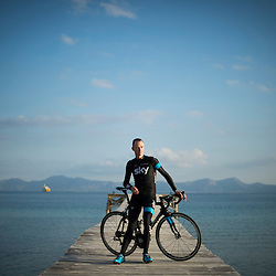 Mcc0051984.DT Sport.Chris Froome at the Sky team's winter training camp in Alcudia Mallorca