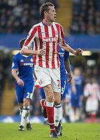 Football - 2016 / 2017 Premier League - Chelsea vs. Stoke City <br /> <br /> Peter Crouch of Stoke City at Stamford Bridge.<br /> <br /> COLORSPORT/DANIEL BEARHAM