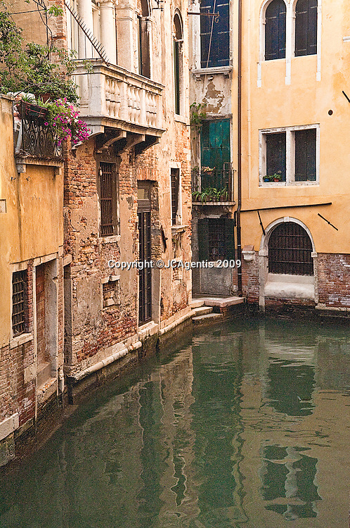 Colorful City Waterway in Venice, Italy