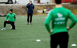 Andrej Razdrh of NK Olimpija Ljubljana exercise during the first day of team Spring Training on January 7, 2013 in Ljubljana, Slovenia. (Photo By Vid Ponikvar / Sportida.com)