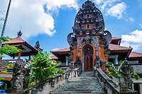 Bali, Gianyar. Administration building, Balinese style.