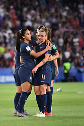 June 29, 2019 - Paris, ile de france, France - Tears of Marion TORRENT (FRA) and Sakina KARCHAOUI (FRA) after the loss at the quarter-final between FRANCE vs USA in the 2019 women's football World cup at Parc des Princes in Paris, on the 28 June 2019. (Credit Image: © Julien Mattia/NurPhoto via ZUMA Press)