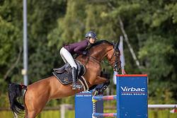 Alexis Mackenzie Samantha, NED, Inajottie VDM<br /> Nationaal Kampioenschap KWPN<br /> 7 jarigen springen final<br /> Stal Tops - Valkenswaard 2020<br /> © Hippo Foto - Dirk Caremans<br /> 19/08/2020