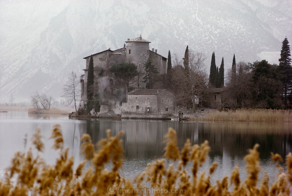 Castle on the shore of the Lago di Garda, Italy.