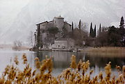 Castle on the shore of the Lago di Garda, Italy.