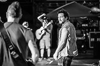 Eddie Veder on tour . Shot for Pearl Jam