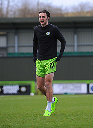 Aaron Collins of Forest Green Rovers warms up prior to kick-off- Mandatory by-line: Nizaam Jones/JMP - 16/01/2021 - FOOTBALL - innocent New Lawn Stadium - Nailsworth, England - Forest Green Rovers v Port Vale - Sky Bet League Two