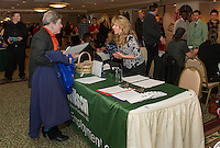 A steady flow of job seekers stopped by for the Lakes Region Job Fair at the Margate on Wednesday afternoon.   (Karen Bobotas/for the Laconia Daily Sun)