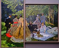France, Paris (75), zone classée Patrimoine Mondial de l'UNESCO, Musée d'Orsay, Le Déjeuner sur l'herbe, Claude Monet // France, Paris, Orsay museum, Le Déjeuner sur l'herbe, Claude Monet