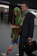 NATHANIEL KOESTLIN; ULRICH KOESTLIN, The VIP preview of Frieze. Regent's Park. London. 16 October 2013