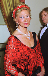BARONESS STEFANIIA VON KORIES at a ball in London on 29th January 1998.<br /> MEY 39