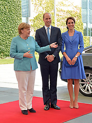July 19, 2017 - Berlin, Deutschland - Angela Merkel, Duchess Catherine, Prince William.Chancellor Angela Merkel welcomes Prince William and Catherine Duchess of Cambridge in the Federal Chancellery, Berlin, Germany - 19 Jul 2017.Credit: MichaelTimm/face to face (Credit Image: © face to face via ZUMA Press)