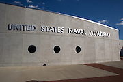 Entrance to the United States Naval Academy in Annapolis Maryland.