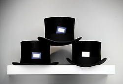 Top hats on a shelf during day five of Royal Ascot at Ascot Racecourse.