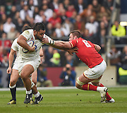 Twickenham. Great Britain.<br /> Billy VUNIPOLA, hands off Dan LYDIATE, during the <br /> RBS Six Nations Rugby, England vs Wales at the RFU Twickenham Stadium. England.<br /> <br /> Saturday  12/03/2016 <br /> <br /> [Mandatory Credit; Peter Spurrier/Intersport-images]