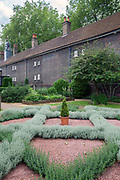 The Herb Garden at the back of the Geffrye museum, Hackney, London, UK<br /> Founded in 1914, the Geffrye Museum is a museum specialising in the history of the English domestic interior