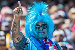 July 22, 2018 - San Francisco, CA, U.S. - SAN FRANCISCO, CA - JULY 22: Fiji fans represent during the Rugby World Cup Sevens on July 22, 2018 at AT&T Park in San Francisco, CA. (Photo by Bob Kupbens/Icon Sportswire) (Credit Image: © Bob Kupbens/Icon SMI via ZUMA Press)
