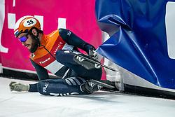 Sjinkie Knegt of Netherlands in action on 1500 meter during ISU World Short Track speed skating Championships on March 06, 2021 in Dordrecht