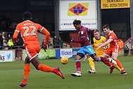 Scunthorpe United forward Ivan Toney (9) attacking  during the EFL Sky Bet League 1 match between Scunthorpe United and Shrewsbury Town at Glanford Park, Scunthorpe, England on 17 March 2018. Picture by Mick Atkins.