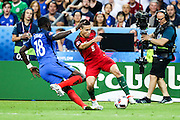 Raphael Guerreiro from Portugal during the match against France. Portugal won the Euro Cup beating in the final home team France at Saint Denis stadium in Paris, after winning on extra-time by 1-0.