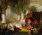 The Inauguration of King William II in the Nieuwe Kerk, Amsterdam, 28 November 1840 by Nicolaas Pieneman, c. 1840-50