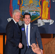 Elmont, New York, USA. April 5, 2016. Former President BILL CLINTON is introduced by Assemblyman TODD KAMINSKY, the Democratic party's candidate in a special election for the New York State Senate seat, at an Organizing Event in Elmont, Long Island, on behalf of Clinton's wife, Hillary Clinton, the leading Democratic presidential candidate. The NY Senate seat Special Election and the New York Presidential Primary both take place April 19th.