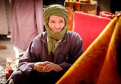 A Berber man at the carpet market in in Tazenakht, southern Morocco, Africa<br /> <br /> (c) Andrew Wilson | Edinburgh Elite media