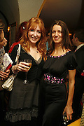 Charlotte Tilbury and Karla Otto, Plum Sykes, book launch party, Annabel's, Berkeley Square, London, W1,10 May 2006.  Matthew Williamson, Catherine Vautrin, Laudomia Pucci host party to celebrate 'The Debutante Divorcee'. ONE TIME USE ONLY - DO NOT ARCHIVE  © Copyright Photograph by Dafydd Jones 66 Stockwell Park Rd. London SW9 0DA Tel 020 7733 0108 www.dafjones.com
