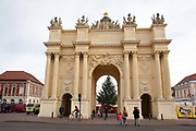 Brandenburg gate in Potsdam, Brandenburg, Germany.