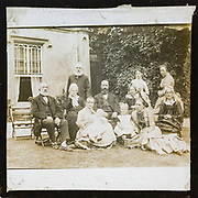 Portrait group photograph three generations prosperous middle-class Victorian Edwardian family, England, c 1900