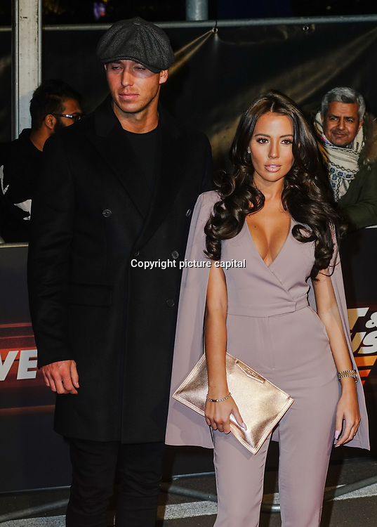 James Locke and Yazmin Oukhellou Arrives at Fast and Furious Live - VIP performance at O2 Arena on 19 January 2018, London, UK.