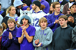 Nov 14, 2009; Manhattan, KS, USA; Kansas State Wildcats fans cheer for their team against the Missouri Tigers at Bill Snyder Family Stadium. The Tigers won 38-12. Mandatory Credit: Denny Medley-US PRESSWIRE