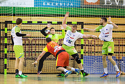 Matej Gaber of Slovenia during friendly handball match between National Teams of Slovenia and F.Y.R. of Macedonia before EHF EURO 2016 in Poland on January 4, 2015 in Sports hall Krsko, Krsko, Slovenia. Photo by Urban Urbanc / Sportida