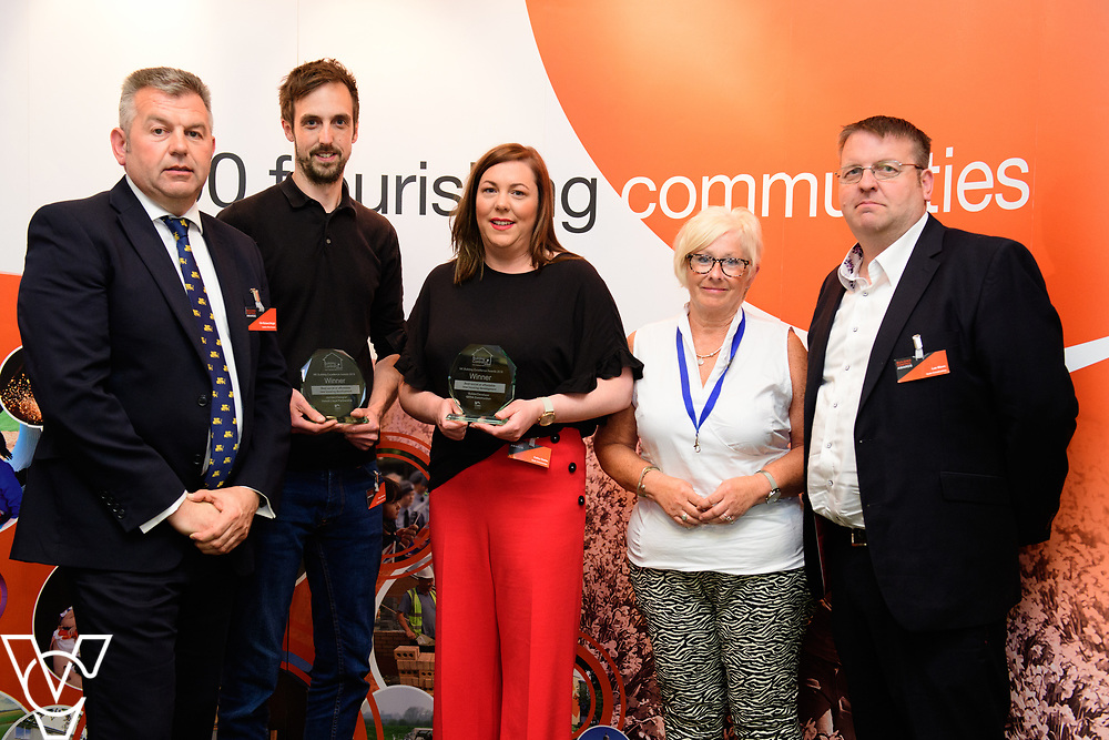 North Kesteven District Council's Building Control Awards 2018. NKDC leader Councillor Richard Wright presents the award for best social or affordable new housing development to Land adj Fire Station, High Street, Brant Broughton.<br /> <br /> Picture: Chris Vaughan Photography for NKDC<br /> Date: June 7, 2018