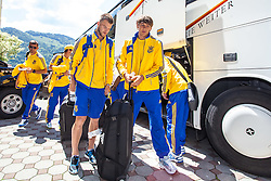 25.05.2012, Hotel Seeresidenz, Walchsee, AUT, UEFA EURO 2012, Trainingscamp, Ukraine, Training, im Bild Andriy Yarmolenko und Denys Garmash // during the arrival at the Hotel Seeresidenz of Ukraine National Footballteam for preparation UEFA EURO 2012 at Hotel Seeresidenz, Walchsee, Austria on 2012/05/25. EXPA Pictures © 2012, PhotoCredit: EXPA/ Juergen Feichter