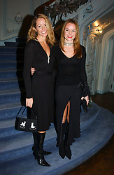 Right, Actress AMANDA HOLDEN with her sister DEBBIE at jewellers Tiffany's Christmas party held at The Savile Club, 69 Brook Street, London on 14th December 2004.<br /> <br /> NON EXCLUSIVE - WORLD RIGHTS