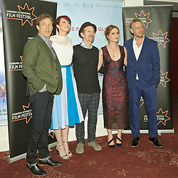 Edinburgh International Film Festival, Sunday, 24th June 2018<br /> <br /> THE PARTING GLASS (WORLD PREMIERE)<br /> <br /> Pictured:  Director Stephen Moyer, producer Cerise Hallam Larkin, Denis O'Hare, Anna Paquin and Mark Larkin <br /> <br /> (c) Aimee Todd | Edinburgh Elite media