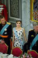 15.04.2015. Copenhagen, Denmark.Queen Leticia of Spain during a Gala Dinner at Christiansborg Palace on the eve of The 75th Birthday of Queen Margrethe of Denmark.Photo:© Ricardo Ramirez