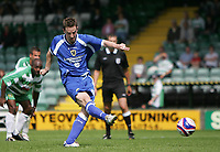 Photo: Lee Earle.<br /> Yeovil Town v Cardiff City. Pre Season Friendly. 21/07/2007.Cardiff's Stephen Maclean scores their second goal from the penalty spot.