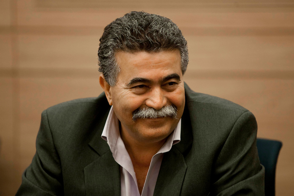 Israeli lawmaker, Knesset Member Amir Peretz attends a session of the Foreign Affairs and Defense Committee at the Knesset, Israel's parliament in Jerusalem, on February 27, 2012.