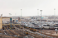 Union Pacific Bailey yard is the world's largest train yard in North Platte, Nebraska, USA