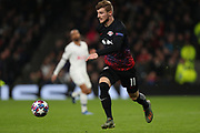 Forward Timo Werner Of Leipzig runs with the ball during the UEFA Champions League match between Tottenham Hotspur and RB Leipzig, at The Tottenham Hotspur Stadium, Thursday, Feb. 20 2020,  in  London, United Kingdom. (Mitchell Gunn/Image of Sport)